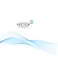blue wave design background vector image