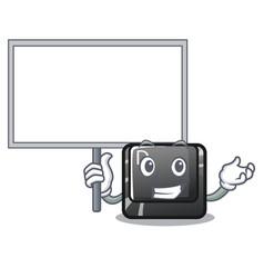 Bring board button d on a computer mascot vector