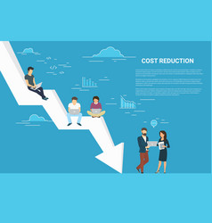Business cost reduction concept of vector