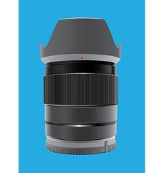 Camera Lens on blue vector