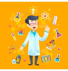 Chemist Scientist Character vector image