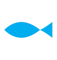christian fish symbol silhouette vector image