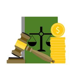 Corrupt and bribery judge and judgment vector