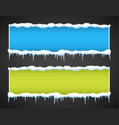 Creative of icicle winter vector