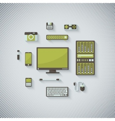 Devices in Flat Style vector image