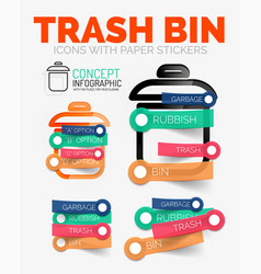 diagram elements set of trash or garbage vector image
