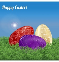 Easter background landscape vector image