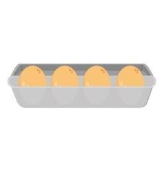 eggs carton icon vector image