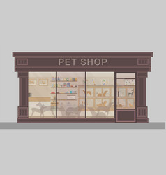 exterior of modern pet shop vector image