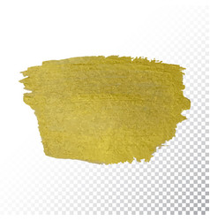 gold paint smear stroke stain abstract gold vector image