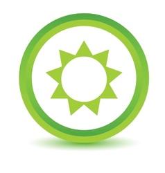 Green Sun icon vector