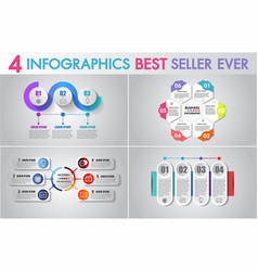 infographics design and business marketing vector image
