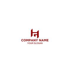 initial hg letter logo design vector image