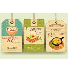 Italian Food - Set of Tags vector