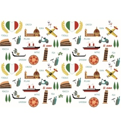 Italy pattern vector image