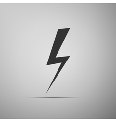 Lightning bolt on grey background Adobe vector