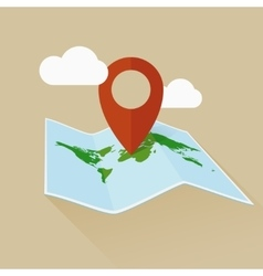 Location flat icon travel map and pin vector image