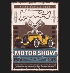 motor show auto race vintage cars vector image