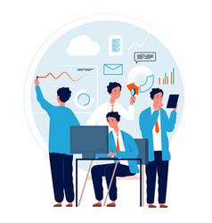 multitask concept businessman making different vector image