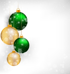 Netting Christmas balls on grayscale vector