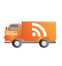News RSS car vector image