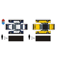 Paper models of cars vector