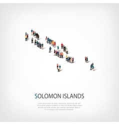 People map country Solomon Islands vector