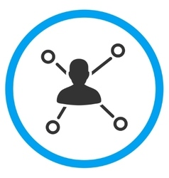 Person Connections Rounded Icon vector
