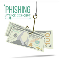 Phishing money concept financial vector