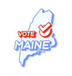 Presidential vote in maine usa 2020 state map vector