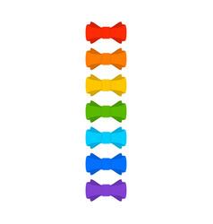 rainbow bow vector image