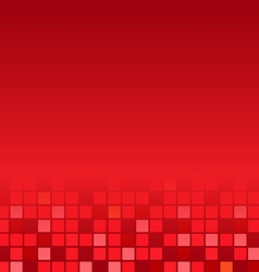 Red mosaic poster vector