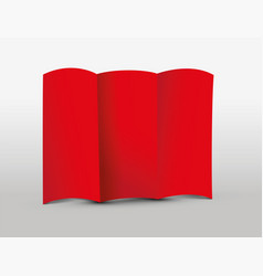 Red tri-fold leaflet vector