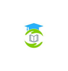 school care logo icon design vector image