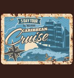 sea cruise ship metal plate rusty ocean vacation vector image