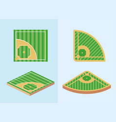 Set baseball sport game field competition vector