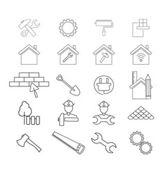 set of improvement repair icons vector image