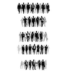 several groups businessmen vector image