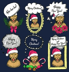 Sketch New Year monkey vector image