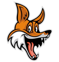 smiling cheerful fox vector image
