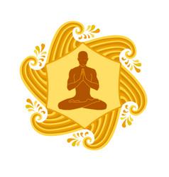 Sun yoga vector