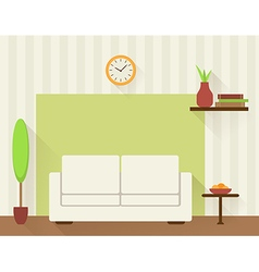 The living room with white sofa vector