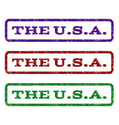 The usa watermark stamp vector