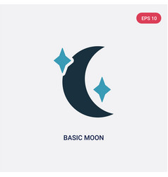 two color basic moon icon from travel concept vector image