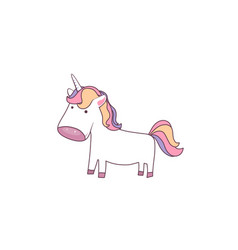 unicorn cute baby pony for vector image