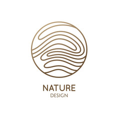 wavy lines structure logo vector image