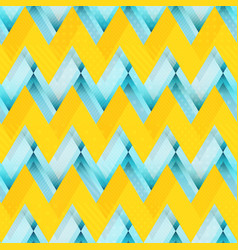 yellow zigzag seamless pattern vector image