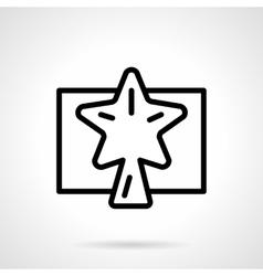 Black simple line Xmas star icon vector image