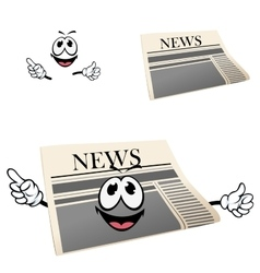 Funny cartoon isolated newspaper character vector