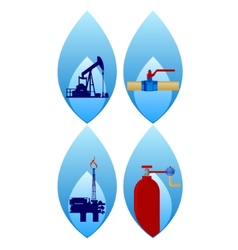 Gas industry-1 vector image